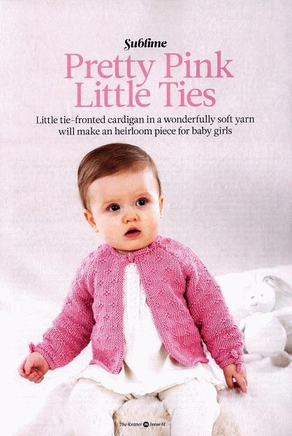 Free Knitting Pattern Pink Cardigan For Baby Girls Knitting And