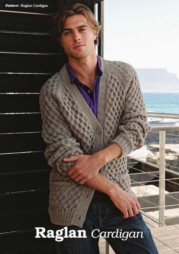 Free Knitting Pattrn Mens Cardigan With Raglan Sleeves Knitting