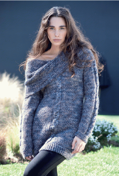 Free Knitting Pattern Sweater With Big Collar Knitting And Crochet