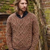 men's aran sweater