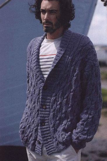 Mens Cardigan With Collar Free Knitting Pattern Knitting And Crochet