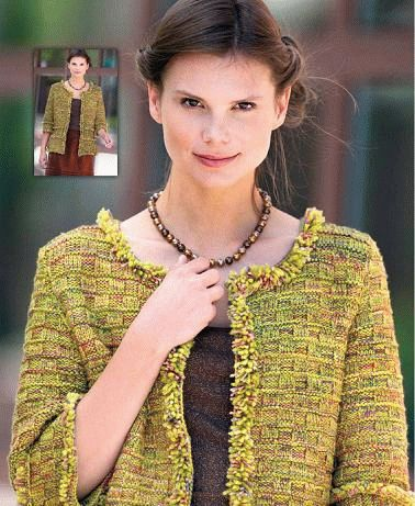 Knitting Pattern Women Jacket Shaggy Squares Knitting And Crochet