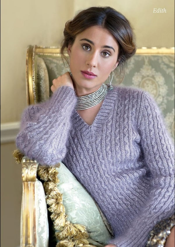 Knitting Pattern V Neck Jumper For Women Knitting And Crochet