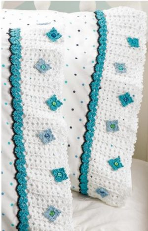 Floral Pillowcase Edging-crochet pattern