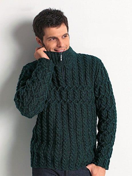 Zip Collar Sweater For Men Free Knitting Pattern Knitting And