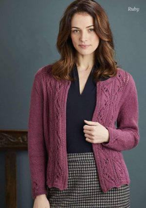"""Womens knitted cardigan """"Ruby"""""""
