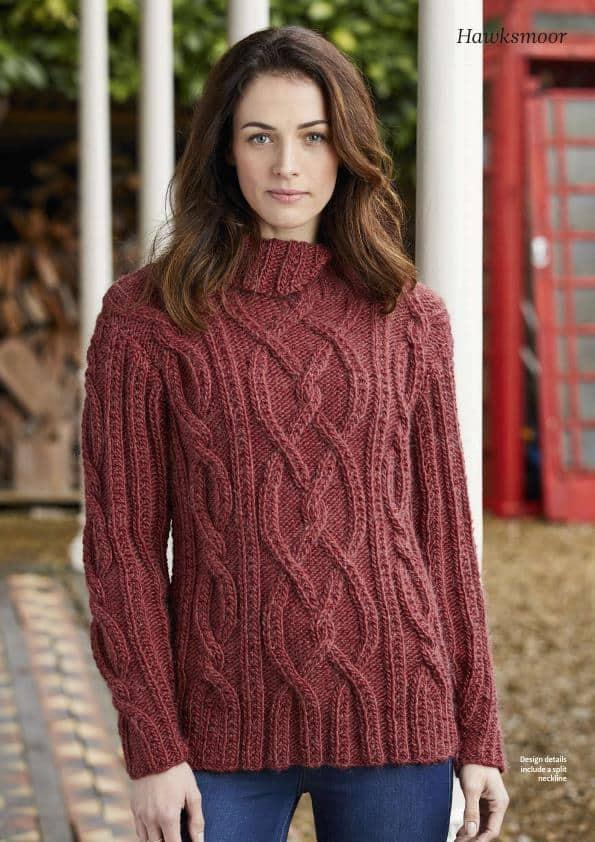 Woman Knitted Jumper Free Knitting Pattern Knitting And Crochet