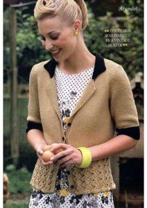 Free knitting pattern Blazer for women Arundel