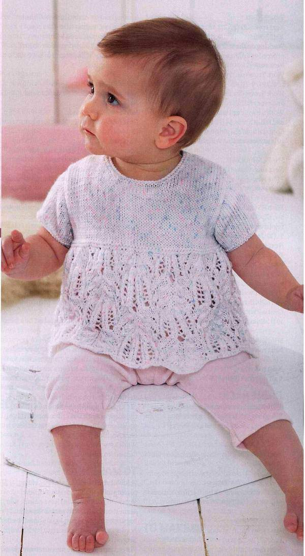 Free knitting pattern Baby Twinset - Knitting and Crochet
