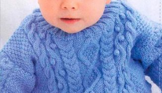 Cable Sweater  and Beanie for kids
