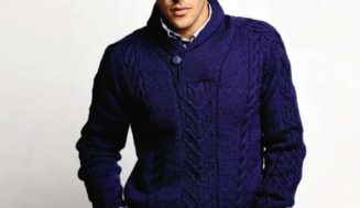 Shawl Collar Sweater-free knitting pattern