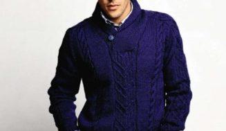 Shawl Collar Sweater-free knitting pattern
