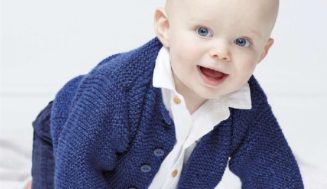 Garter Stitch Jacket for kids -free knitting pattern