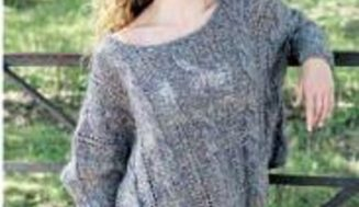 Draping poncho -free knitting pattern