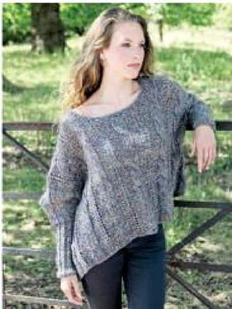 Draping Poncho Free Knitting Pattern Knitting And Crochet